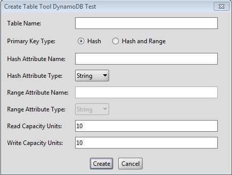 DynamoDB Create Table