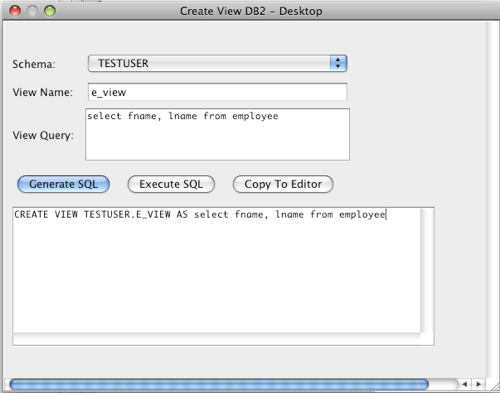 Oracle Create View