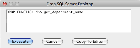 MS SQL Server Drop Function