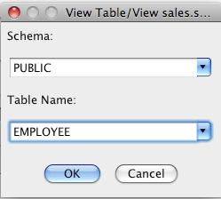 Database View Table