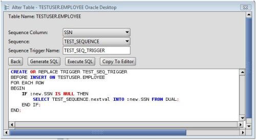 Oracle Add Sequence Trigger