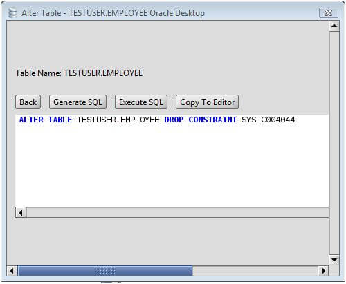 Oracle drop primary key from a oracle database table via the alter table command - Alter table drop column sql ...