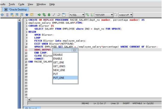 Oracle SQL PL/SQL Editor