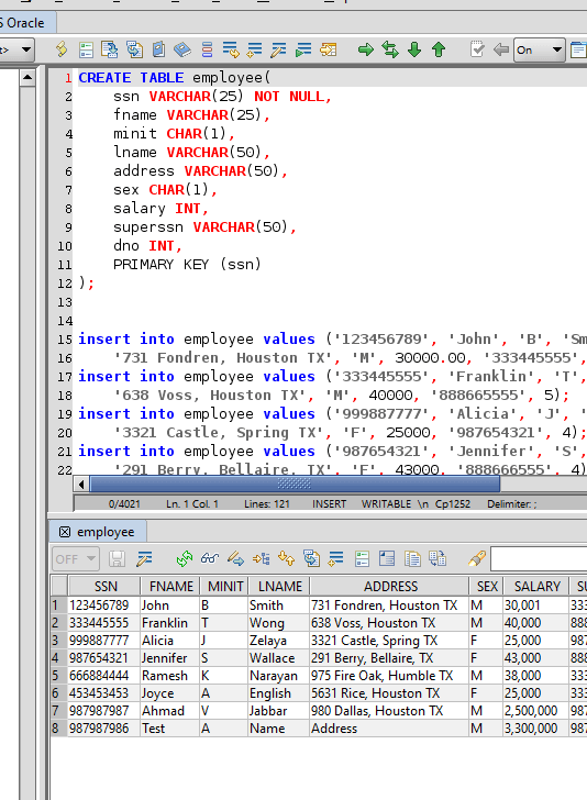 Oracle SQL Editor