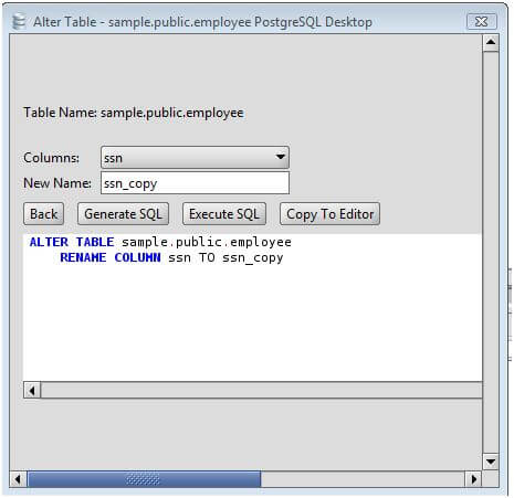 Change the table column name in sql server designer - Sql server alter table modify column ...