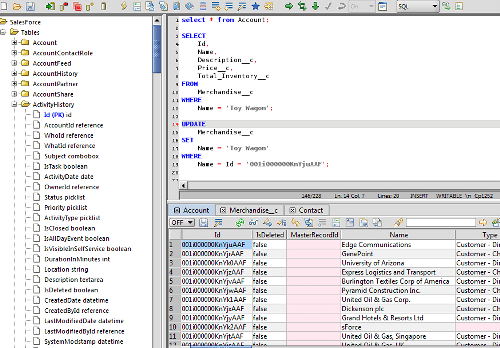 Salesforce SQL Editor