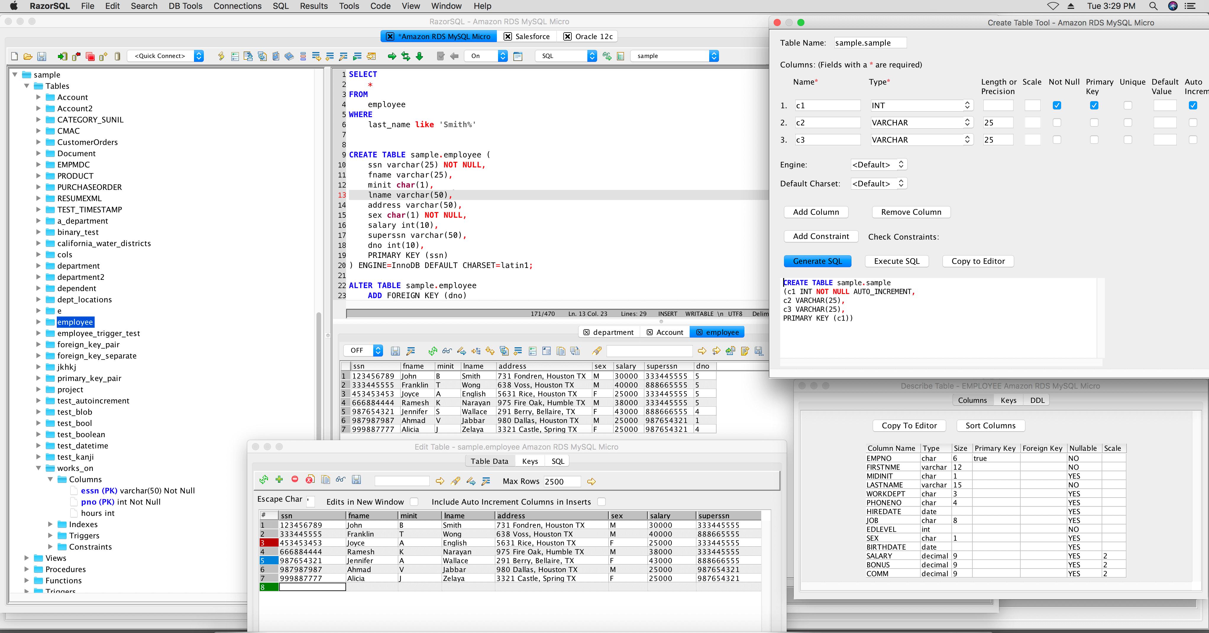 RazorSQL 8.3.1 Mac支持多种数据库的管理工具软件下载